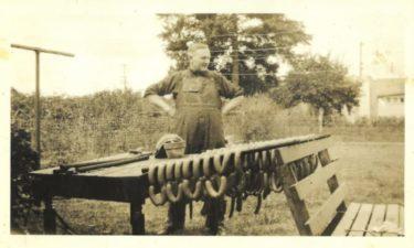 Otto's sausage vintage photo